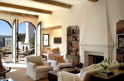 Modern Mediterranean Living Room Interior and Decorations 37