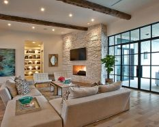 Modern Mediterranean Living Room Interior and Decorations 39
