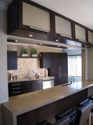 Modern and Contemporary Kitchen Cabinets Design Ideas 68