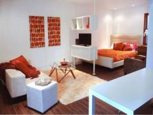 One room apartment layout design ideas 1
