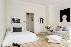 One room apartment layout design ideas 15