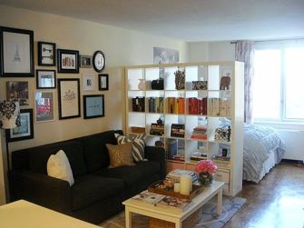 One room apartment layout design ideas 26