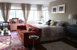 One room apartment layout design ideas 5