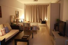 One room apartment layout design ideas 61