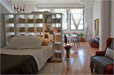 One room apartment layout design ideas 76