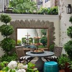 Small courtyard garden with seating area design and layout 4