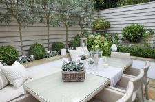 Small courtyard garden with seating area design and layout 52