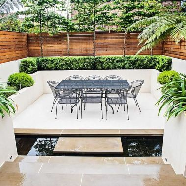 Small courtyard garden with seating area design and layout 6