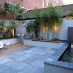 Small courtyard garden with seating area design and layout 73