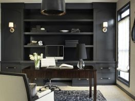 Awesome Built In Cabinet and Desk for Home Office Inspirations 1