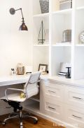 Awesome Built In Cabinet and Desk for Home Office Inspirations 28