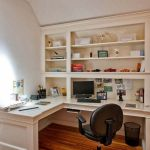 Awesome Built In Cabinet and Desk for Home Office Inspirations 3