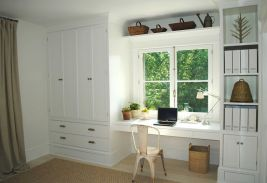 Awesome Built In Cabinet and Desk for Home Office Inspirations 38