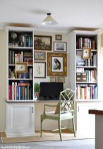 Awesome Built In Cabinet and Desk for Home Office Inspirations 57