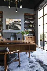 Awesome Built In Cabinet and Desk for Home Office Inspirations 60