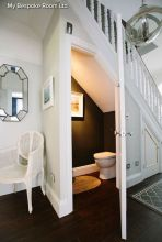Awesome Cool Ideas To Make Toilet Under Stairs 19
