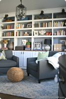 Brilliant Built In Shelves Ideas for Living Room 42