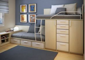 Cool Loft Bed Design Ideas for Small Room 11