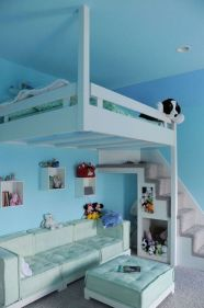 Cool Loft Bed Design Ideas for Small Room 15