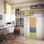 Cool Loft Bed Design Ideas for Small Room 41