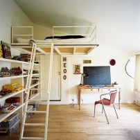 Cool Loft Bed Design Ideas for Small Room 64