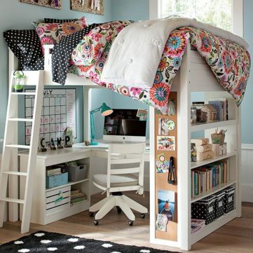 Cool Loft Bed Design Ideas for Small Room 72