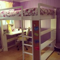 Cool Loft Bed Design Ideas for Small Room 79