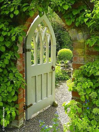 Fascinating Garden Gates and Fence Design Ideas 12