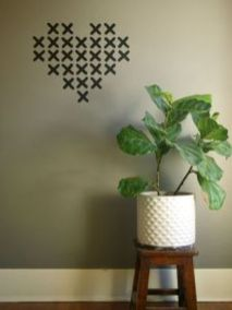 Inspiring Creative DIY Tape Mural for Wall Decor 33