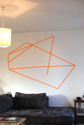 Inspiring Creative DIY Tape Mural for Wall Decor 38