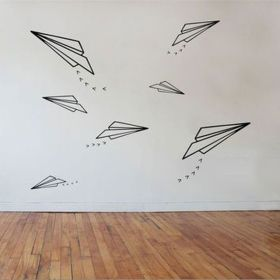 Inspiring Creative DIY Tape Mural for Wall Decor 50