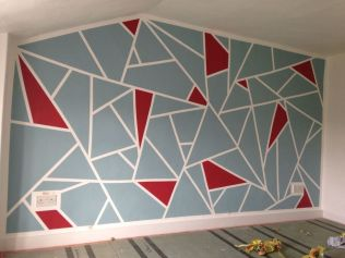 Inspiring Creative DIY Tape Mural for Wall Decor 9