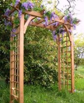 Stunning Creative DIY Garden Archway Design Ideas 17