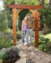 Stunning Creative DIY Garden Archway Design Ideas 21