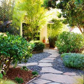 Front Yard and Garden Walkway Landscaping Inspirations 47
