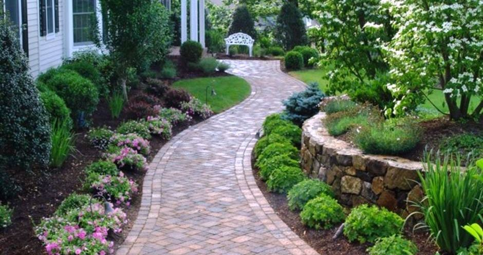 Front Yard and Garden Walkway Landscaping