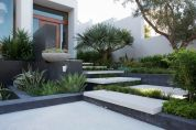 Modern and Contemporary Front Yard Landscaping Ideas 36