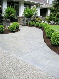 Modern and Contemporary Front Yard Landscaping Ideas 40