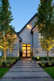 Modern and Contemporary Front Yard Landscaping Ideas 44