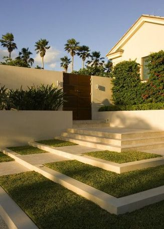 Modern and Contemporary Front Yard Landscaping Ideas 49