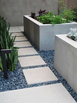 Modern and Contemporary Front Yard Landscaping Ideas 67