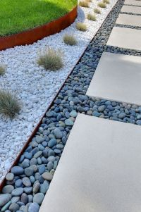 Modern and Contemporary Front Yard Landscaping Ideas 70