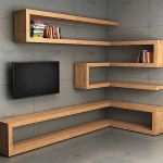 Corner Wall Shelves Design Ideas for Living Room 10