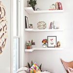 Corner Wall Shelves Design Ideas for Living Room 16