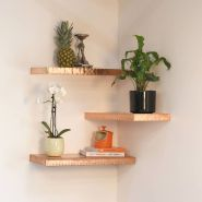 Corner Wall Shelves Design Ideas for Living Room 19
