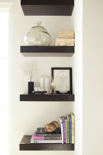 Corner Wall Shelves Design Ideas for Living Room 22