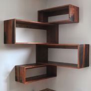 Corner Wall Shelves Design Ideas for Living Room 27