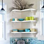 Corner Wall Shelves Design Ideas for Living Room 36