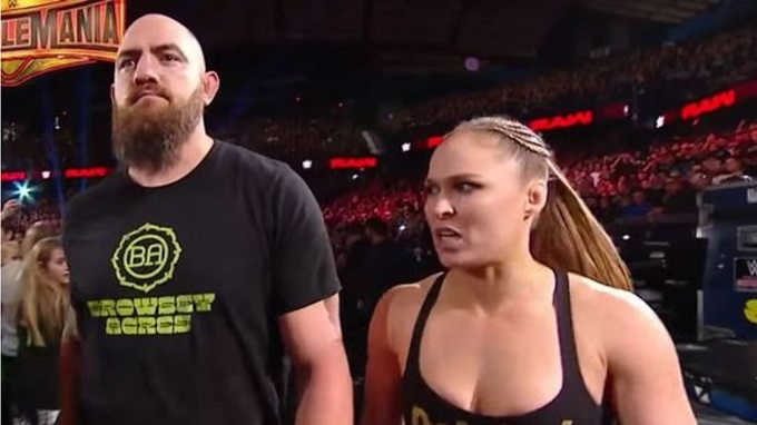 Ronda Rousey with her husband Travis Browne..