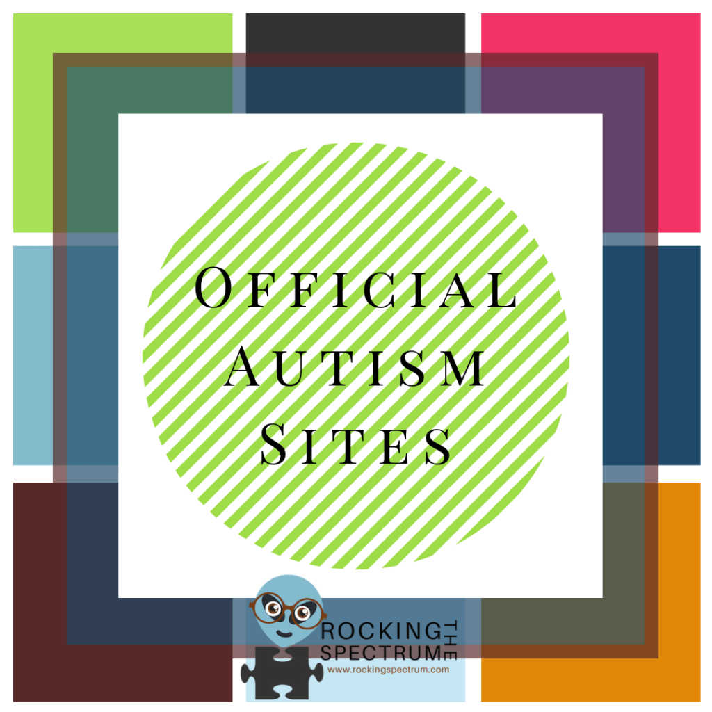 links to official autism sites on rocking the spectrum